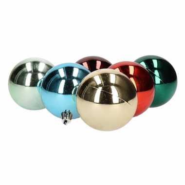 12 kerstballen bonte kleuren 6 cm