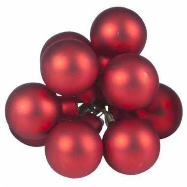 Kerst stekers rode balletjes 10 stuks