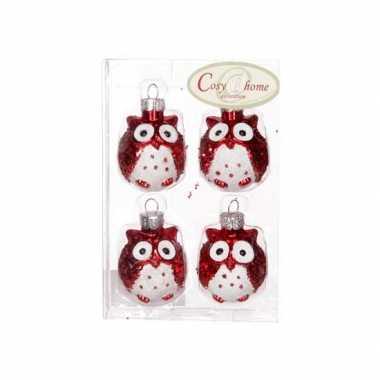 Kerstboom Hangers Rode Uil Rode Kerstballen Nl
