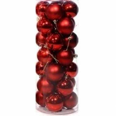 Rode kerstballen 28 stuks