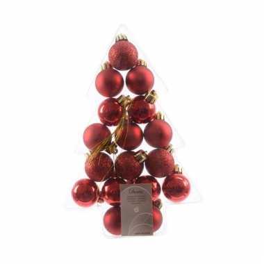 Rode Kerstversiering Mini Kerstballen Rode Kerstballen Nl
