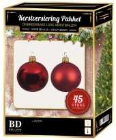 Kerstballen met ster piek set kerst rood voor 120 cm kerstboom 10170369